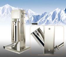 7L Commercial Vertical Sausage Stuffer Filler Meat Maker Machine Stainless Steel