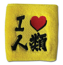 "**Legit** No Game No Life ""I LOVE HUMAN"" Yellow Authentic Wristband #64780"