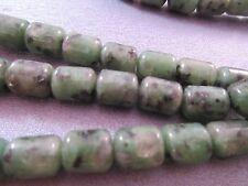 Green Kiwi Jasper Tube Beads 35pcs