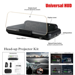 Universal Car SUV LED GPS Speed Water HUD Head-up Projector Kit Digital Display