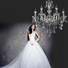 E12 Elegant K9 6 Light  Crystal Candle Decoration Chandelier Pendant Ceiling