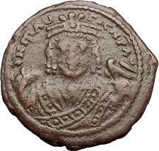 MAURICE TIBERIUS 601AD Antioch Theoupolis Follis Ancient Byzantine Coin i57537