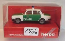 Herpa 1/87 Nr. 044493 Wartburg 353 ´85 Volkspolizei Polizei grün/weiß OVP #1336