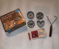 VTG Nordic Ware Set Double Rosette Timbale Iron Cookie Patty Shell Form 4 Mold