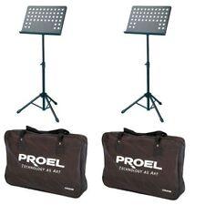 Proel RSM360M 2 Leggii appoggia spartiti preforato Orientabile + borsa trasporto
