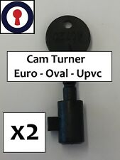Locksmith tool Cam turners x 2, Euro, Oval and Upvc Gearbox 1st P&P