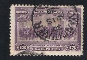 Canada used: 1935 Charlottetown 13c KGV Pictorial Issue, Vancouver SON, sc#224