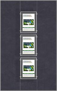 A4 LED Light Pocket - Portrait 1x3 Display