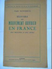 MONTREUIL Jean - HISTOIRE DU MOUVEMENT OUVRIER EN FRANCE