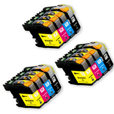 12PK Ink Cartridge Set + chip for Brother LC201 LC203XL MFC J460DW J480DW J485DW