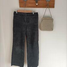 Herringbone velours wide leg bell bottoms vintage 90s Y2k pants 31w cottagecore