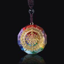 Orgonite Pendant Sri Yantra Necklace Sacred Geometry Chakra Energy Necklace