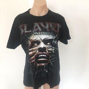 Slayer Band Tee Rook Mang Skull Size M Mens Cotton T-Shirt