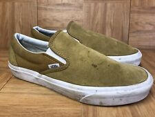 RARE🔥 VANS Classic Slip On Mustard Yellow Gold Suede Shoes Sz 10.5 Men's