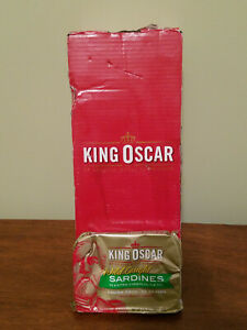 12 count King Oscar Wild Caught Sardines Extra Virgin Olive Oil * NEW Sealed