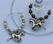 Horse wine glass charms - horse lovers gift