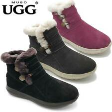 MUBO UGG Fashion Boots Premium Sheepskin Shoes Antislip TPR Sole SN7788