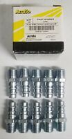 "QTY-10) Amflo HVLP High Flow Style Steel Air Fitting Plug, 1/4"" Male NPT #CP91"