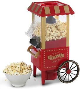 Elgento Table Top Movie Time Old Fashion Retro Cart Popcorn Maker Machine Gift