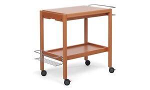Foppapedretti Carrello Tavolino Da Cucina In Legno Noce Modello Newton