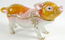 Pig- Jewelled & Enamalled Trinket Box