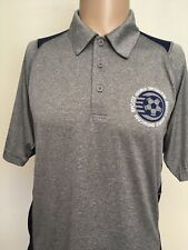 DISNEY PARKS EPCOT WORLD SHOWCASE PERFORMANCE SOCCER POLO SHIRT Heather Gray M