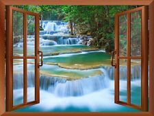 "wall26 - Cascading Waterfalls in Tropical Forest/ Wall Mural - 24""x32"""