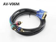 6ft VGA Male to Component 3RCA Male Cable for HD Projectors w/ VGA Input AV-V06M
