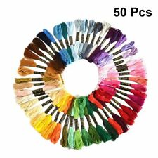 50 x Cross Stitch Cotton Sewing Skeins Embroidery Thread Floss Mix Colors Kit