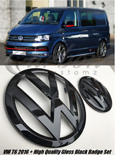 New VW Transporter T6 2016 + Gloss Black Front & Rear Badges Set UK Seller