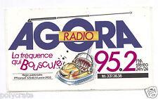 Autocollant Sticker Pub - Agora Radio La fréquence qui bouscule FM 95.2