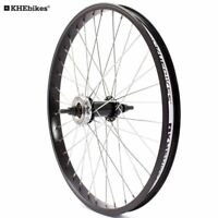 KHE BMX Hinterrad Alu Felge 36 Loch 10mm KHE Felgenband+Ritzel Made in Germany