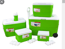 More details for ice chest with wheels 6 piece set green outdoors