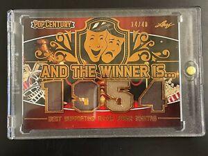 FRANK SINATRA WORN WARDROBE SWATCH RELICS CARD #14/40 LEAF POP CENTURY 1954 BEST