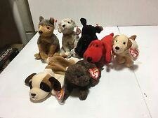 Ty Beanie Babies Retired Dog Lot Bernie Sarge Rover Rufus Luke Tricks Fetcher