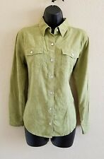 CHICO'S Women's 100% Silk Button Front Blouse Top SIZE 0