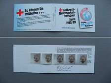 GERMANY BRD, Privat booklet 1988 MNH, Red Cross, Wohlfahrtsmarken, gold