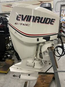"""2007 Evinrude 115hp ETEC DFI two stroke XL shaft 25"""" remote freshwater"""