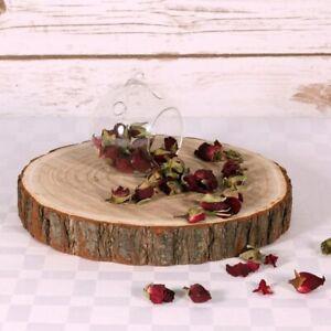 Natural Large Wood Log Slice Tree Bark Rustic Wedding Centrepiece CakeStand 30cm
