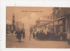 Port Said Vue Du Quartier Arabe Egypt 1913 Postcard 114b