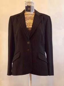 Klass Jacket Blazer size 14    Striped Long Sleeve  Black