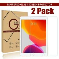 New 2 Pack Tempered Glass Screen Protector For Apple iPad 2020 8th 10.2 inch