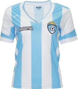 Argentina  New Arza Women Jersey Blue White 100% Polyester