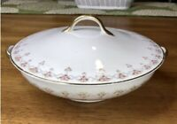 Vintage Warwick Wheeling China Casserole Dish Roses And Gold Trim Including Lid