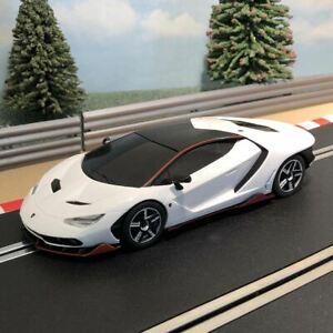 Scalextric 1:32 Car - C4087 Lamborghini Centenario Bianco Monocerus White *LIGHT