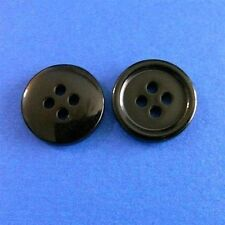 200 Wholesale Lot Round Top Pants Shirt Craft Sewing buttons 15mm 24L Black M112