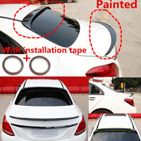 """Fit For 15-20 Benz C Class Sedan W205 Gloss Black """"OE Style"""" Trunk&Roof Spoiler"""