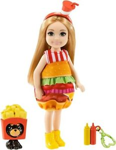 Barbie Chelsea Doll Hamburger and Fries Puppy Dog Costumes Accessories New