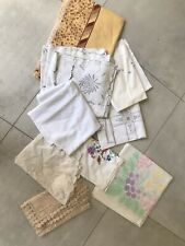 Large Bundle Of Vintage Table Cloths