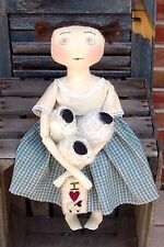 Primitive Pattern Ewe-La Mae A prim doll and her Sheep  To Make # HFTH
